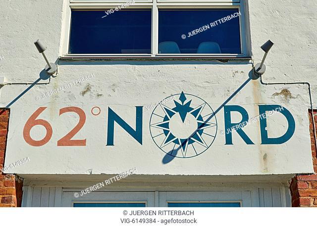 NORWAY, ÅLESUND, 30.06.2018, 62 degree north is symbol of Ålesund, Norway, Europe - Ålesund, Møre og Romsdal, Norway, 30/06/2018