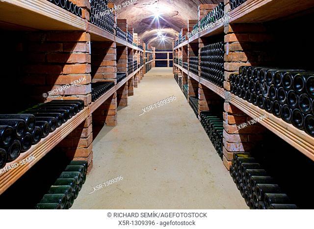 wine archive, Jan Vanek Winery, Chvalovice, Czech Republic