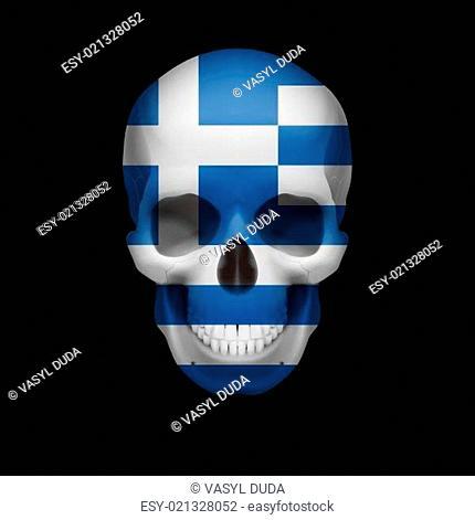 Greek flag skull