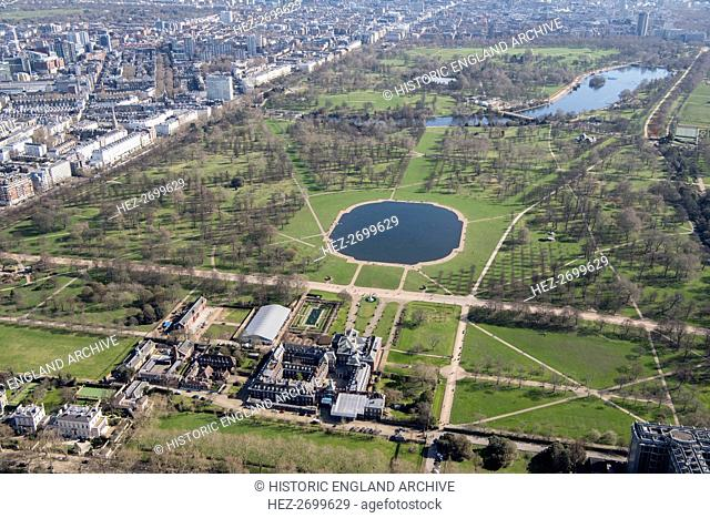 Kensington Palace and Kensington Gardens, London, 2018. Creator: Historic England Staff Photographer