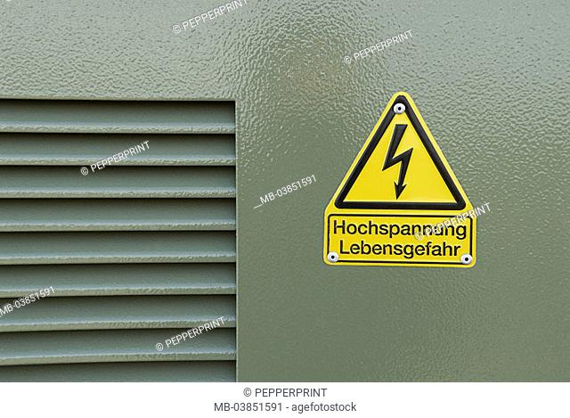 Symbol Trafostation symbol electricity stream stock photos and images | age fotostock