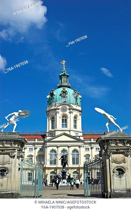 Charlottenburg Palace, entrance gate, Berlin Germany