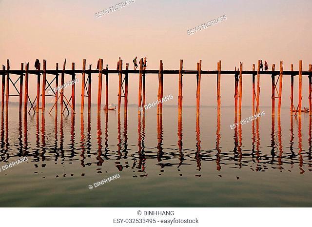 U Bein bridge is longest teak bridge in the world