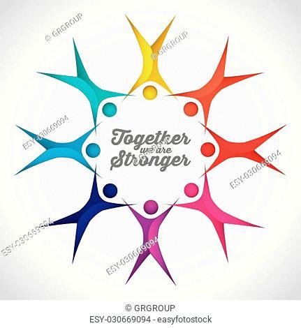 together concept design, vector illustration eps10 graphic
