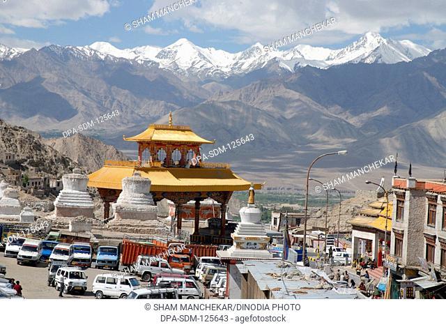 Stok Kangra snow peaks at Leh ; Ladakh ; Jammu & Kashmir ; India