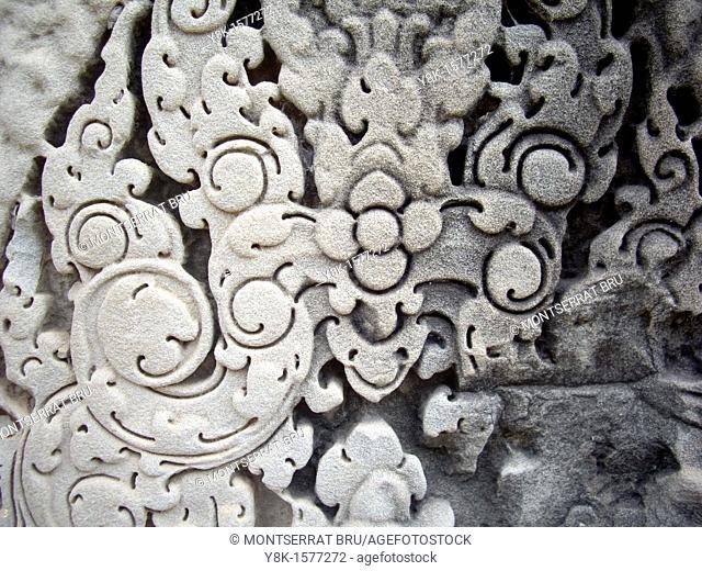 Angkor Wat stone carving