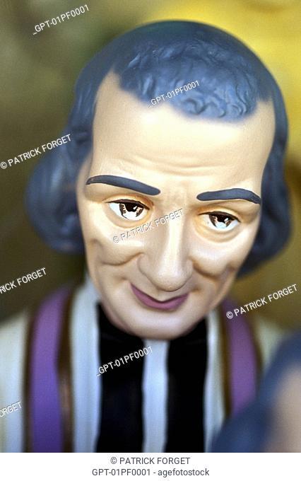 STATUE, THE PARISH PRIEST, ARS SUR FROMANS, AIN 01, FRANCE