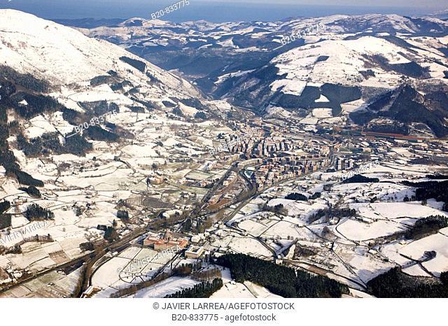 Snow, Sanctuary of Loiola, Azpeitia. Guipuzcoa, Basque Country, Spain