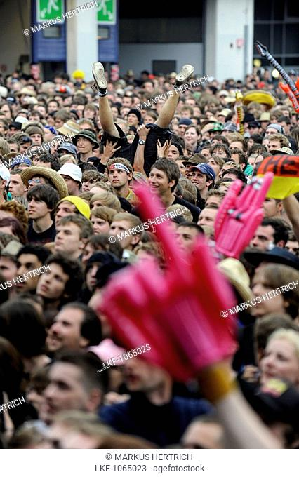 music fans at Rock am Ring, Nuerburgring, Nuerburg, Germany