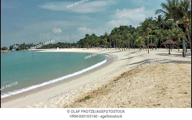 Tanjong Beach on the island resort of Sentosa in Singapore