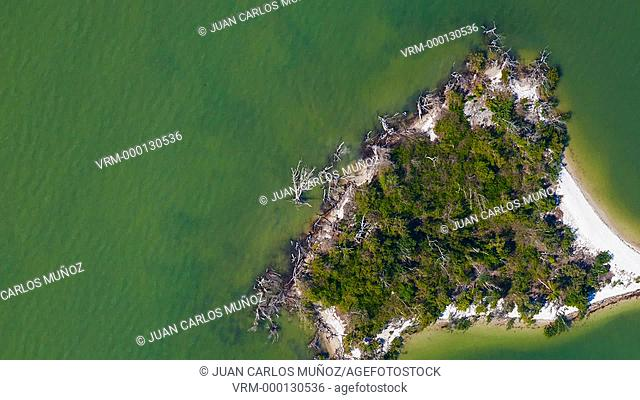 Aerial view of Everglades National Park