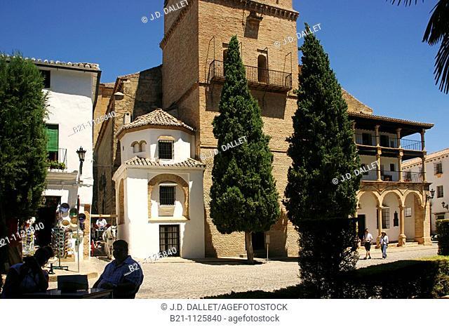 Santa Maria la Mayor church, Ronda, Malaga province, Andalusia, Spain