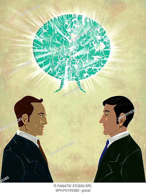 Illustration of miscommunication