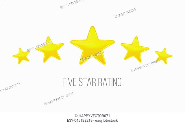 Creative vector illustration of star rating. Vote like ranking art design. Abstract concept graphic element. Choice rate. Infographic classification