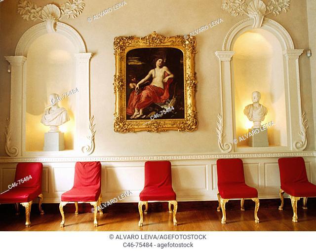 18th century room in Newman House museum, Dublin. Ireland