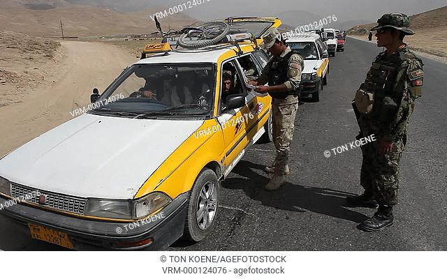 police check point in wardak, afghanistan
