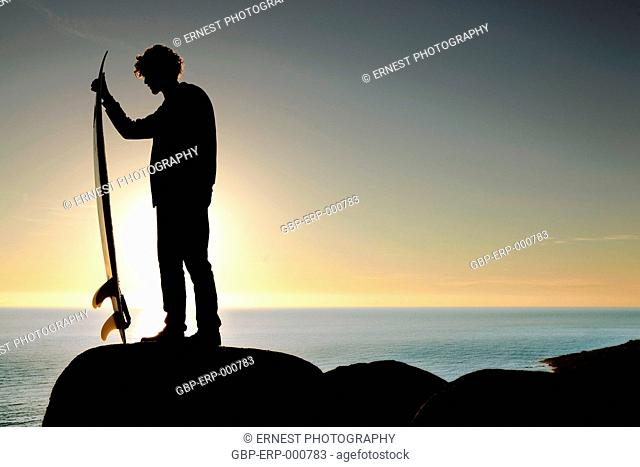 People, man, stone; beach, sea