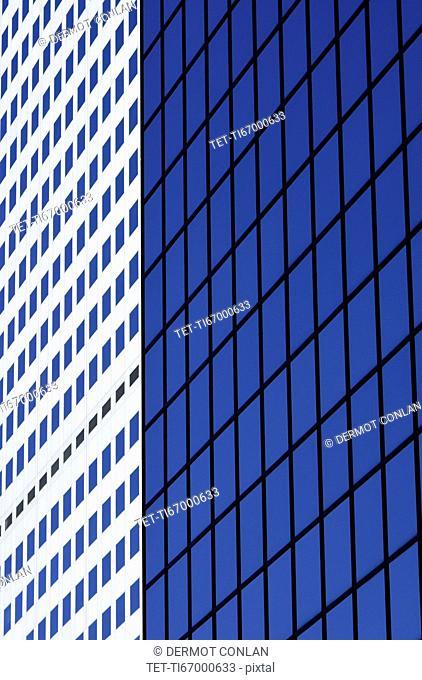 USA, Colorado, Denver, Detail of facade of modern office building
