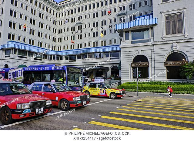 Chine, Hong Kong, Kowloon, Tsim Sha Tsui, hotel Peninsula / China, Hong Kong, Kowloon, Tsim Sha Tsui, Peninsula hotel