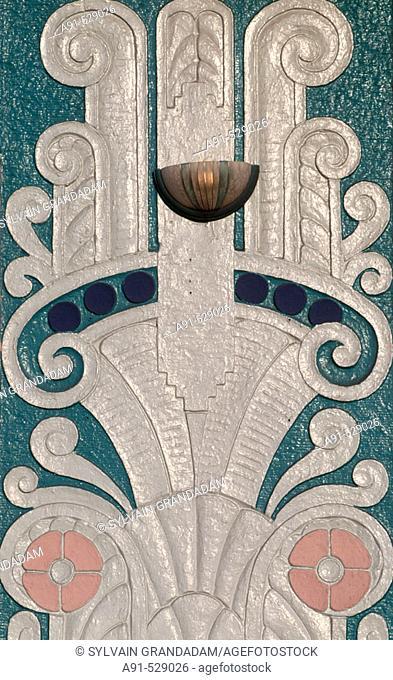 The Art Deco District around Ocean Drive and Washington Ave. Miami Beach. Florida. USA