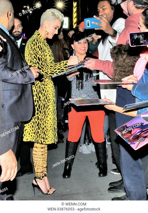 Katy Perry visits the 'Jimmy Kimmel Live!' studios Featuring: Katy Perry Where: Los Angeles, California, United States When: 05 Mar 2018 Credit: WENN
