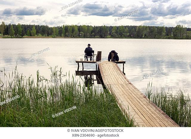 Forest lake, Vitebsk region, Belarus