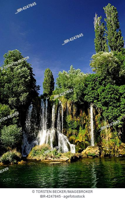 Roški Slap, waterfall, Krka National Park, Sibenik-Knin County, Dalmatia, Croatia