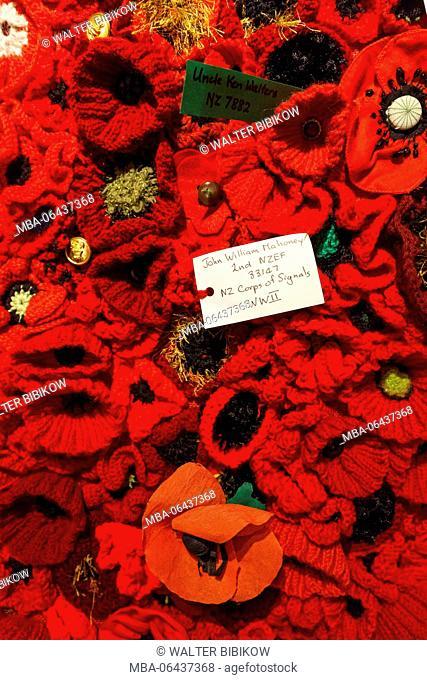 New Zealand, North Island, Auckland, Devonport, Navy Museum, memorial poppies
