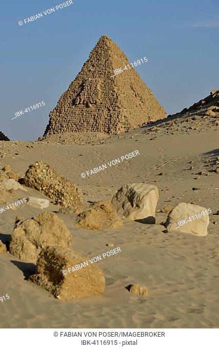 Pyramid in Nuri, Northern, Nubia, Sudan