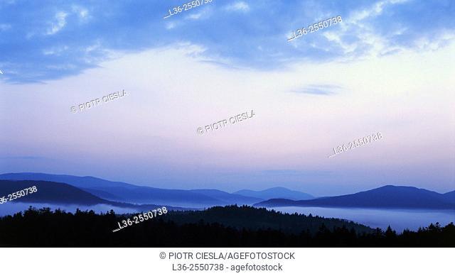 Beskid Niski mountains. Poland