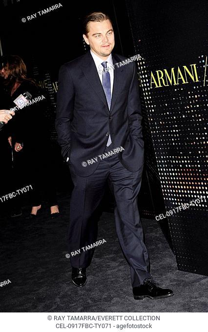 Leonardo DiCaprio at arrivals for Giorgio Armani 5th Avenue Store Grand Opening, Armani 5th Avenue Store, New York, NY 2/17/2009