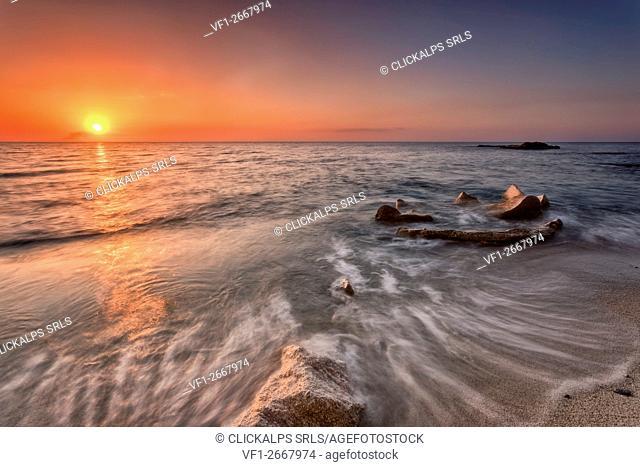 Tropea, Calabria, Italy. Sunset near Tropea Island
