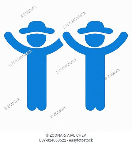 Hands Up People Icon