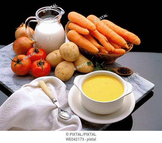 Cream of carrots soup