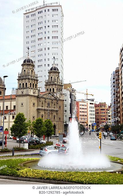 Iglesia de San José, Plaza del Humedal, Gijon, Asturias, Spain