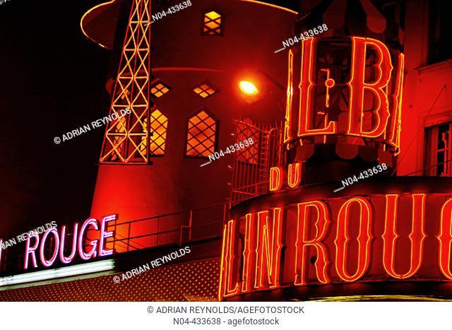 Moulin Rouge, Paris. France