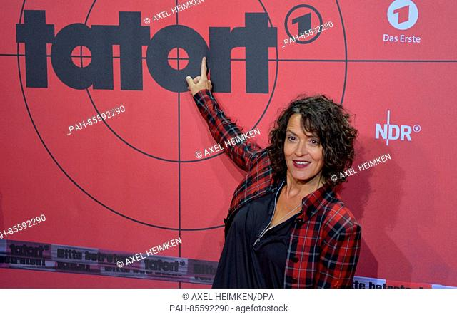 German actress Ulrike Folkerts poses for the camera in Hamburg, Germany, 11 November 2016. The German TVchannel Das Erste (First German Television) is...