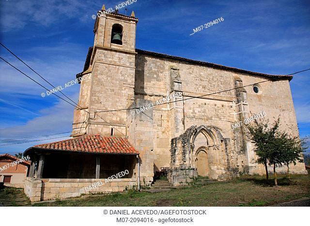 Okariz church, Alava, Basque Country, Spain, Europe