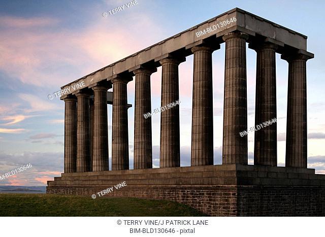 Pillars of national monument, Edinburgh, Scotland, United Kingdom