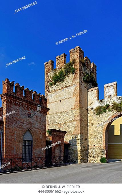 Europe, Italy, Veneto Veneto, Soave, via Mere, town wall, plants, historically, wall, museum, place of interest, tourism, architecture, trees, towers, detail