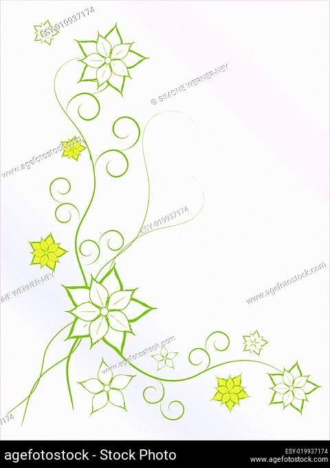Floral Hintergrund blüten grün