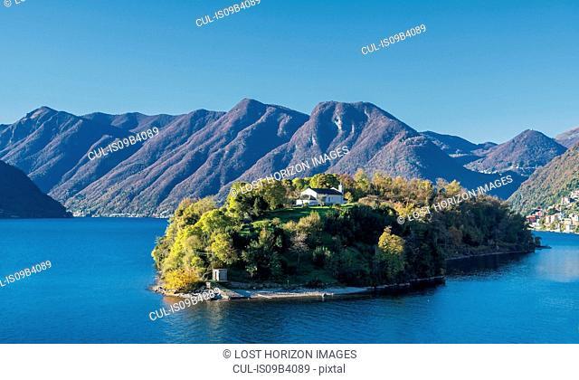 Isola comacina island, Lake Como, Lombardia, Italy