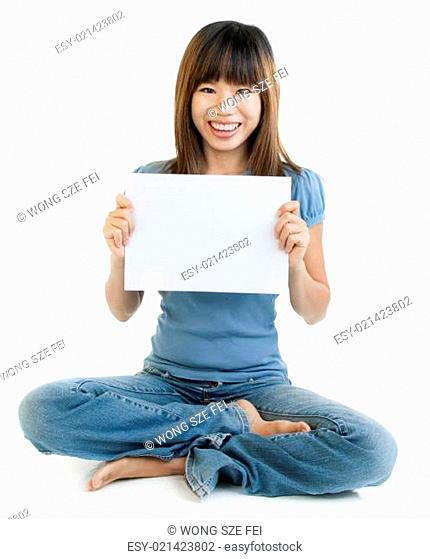 Blank paper for advertisment