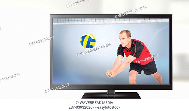 volleyball player on television