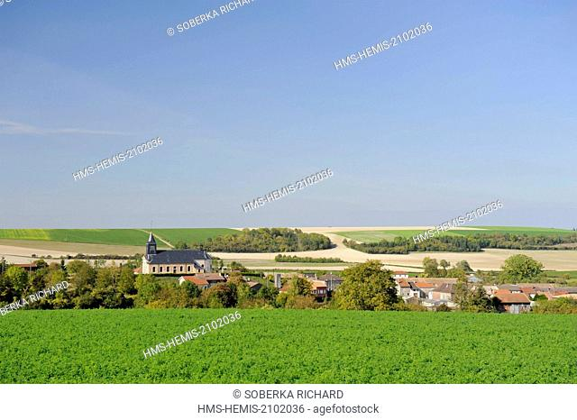 France, Marne, Valmy, village nestled in its small valley