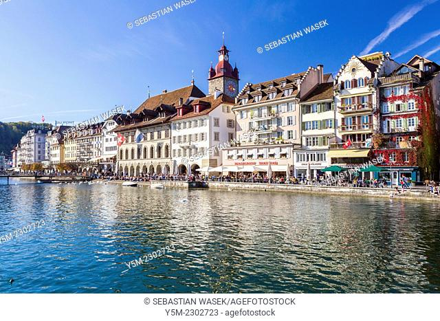 The historical city of Lucerne at the Lake Lucerne in Central Switzerland, Switzerland