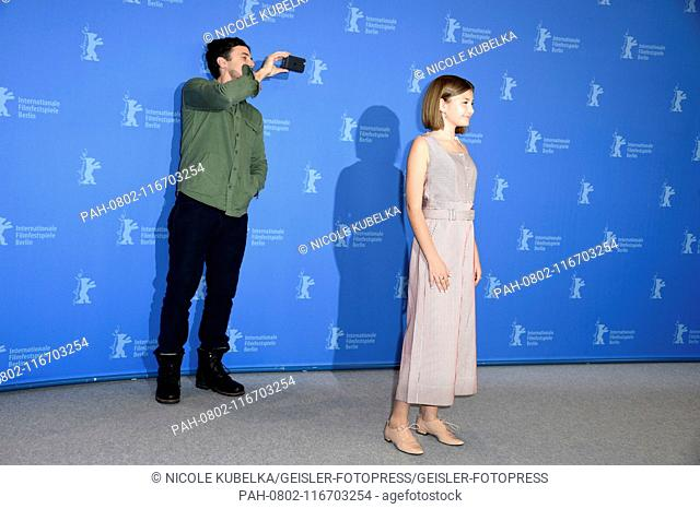 Casey Affleck and Anna Pniowsky during the 'Light Of My Life' photocall at the 69th Berlin International Film Festival / Berlinale 2019 at Hotel Grand Hyatt on...