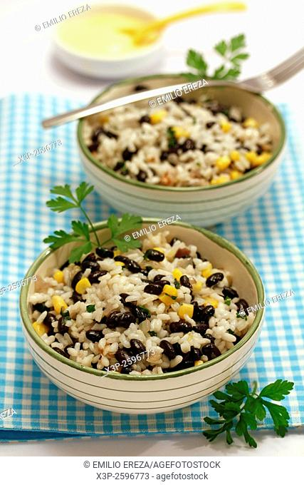 Rice with black beans and corn