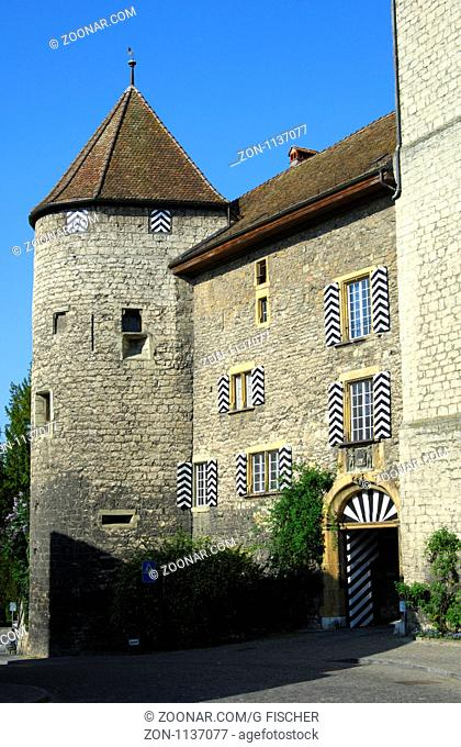 Burgfried, Schloss Murten, Morat, Schweiz / Keep of the Castle Murten, Morat, Switzerland