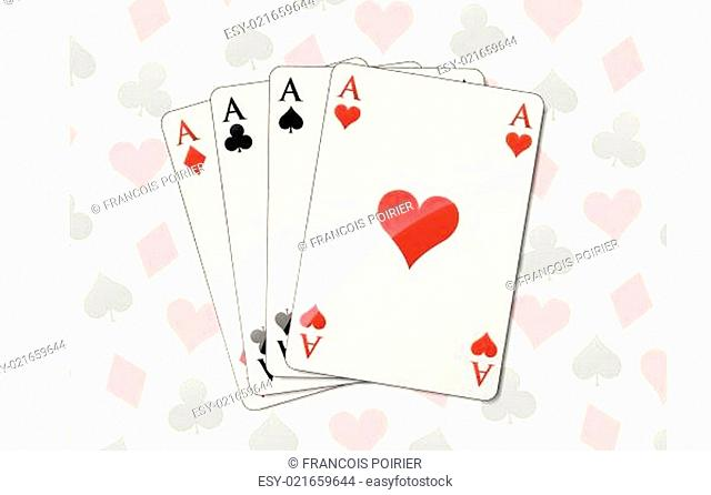 Four aces background